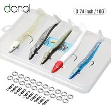 DONQL 5 pièces/ensemble tête de gabarit leurre de pêche souple appâts en Silicone 10g 95mm leurre de pêche