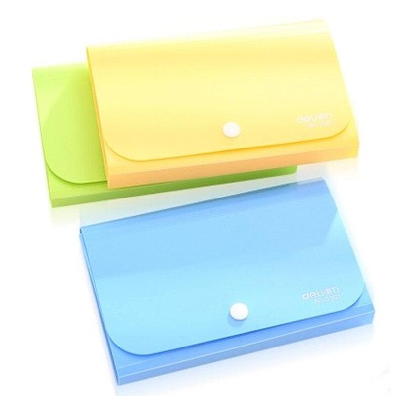 Portadocumentos de notas multicolores creativo MIRUI A6 carpeta de archivos titular de facturas 4 colores facturas billeteras bolsa suministros para oficina y escuela