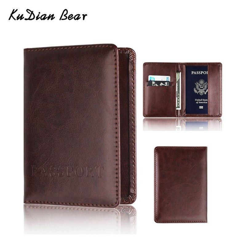 Funda de pasaporte KUDIAN BEAR para hombre y mujer, funda de viaje con tarjetero de diseño, tarjetero, portatarjetas, BIH023 PM49