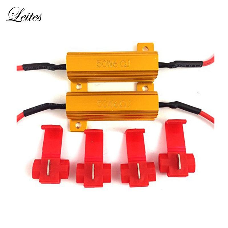 Leites gran oferta 50W 6ohm resistencias de carga fija bombilla LED rápido Hyper Flash señal de giro parpadeo código de Error para 1157 3157 7443