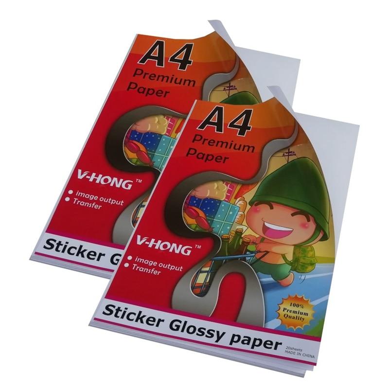 ink jet printer Glossy sticker Self adhesive Paper 8.26x11.7 inch high 135g Glossy Sticker Photo paper