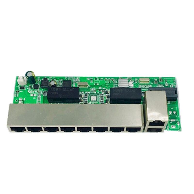 ANDDEAR-48 v 8 porto gigabit não gerida poe switch 8*100 mbps poe pote; interruptor poe de ligação 2*100 mbps, nvr