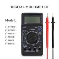 m890d digital multimeter meter tester automotive electrical transistor peak tester meter ac dc capacitance voltage current meter