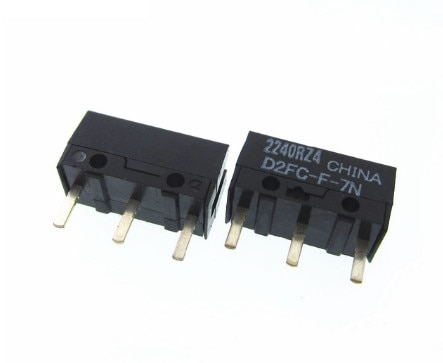 100PCS Micro Switch Microswitch D2FC-F-7N for Mouse D2F-J Microswitch Next Generation of D2FC-F-7N new original