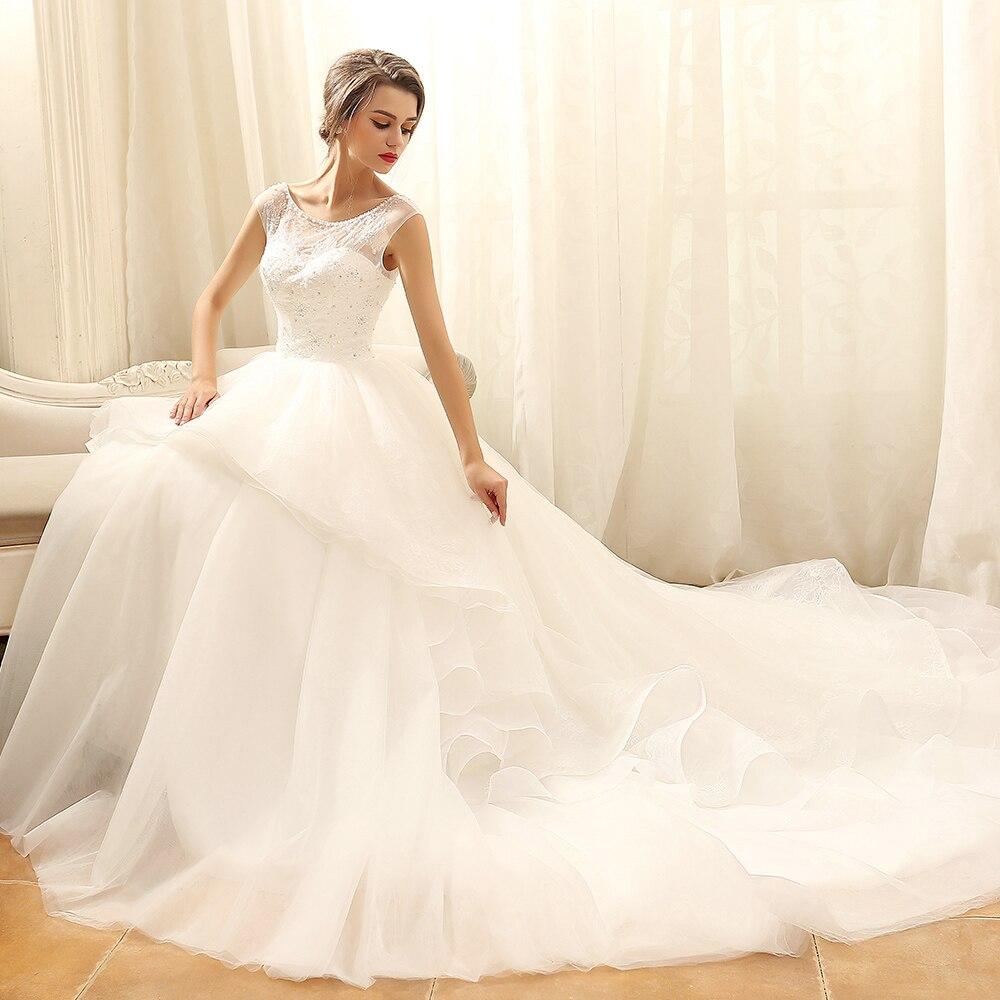 Vestido de baile de princesa de lujo Ryanth vestido de novia 2019 bata de mariage Vestidos de novia personalizados