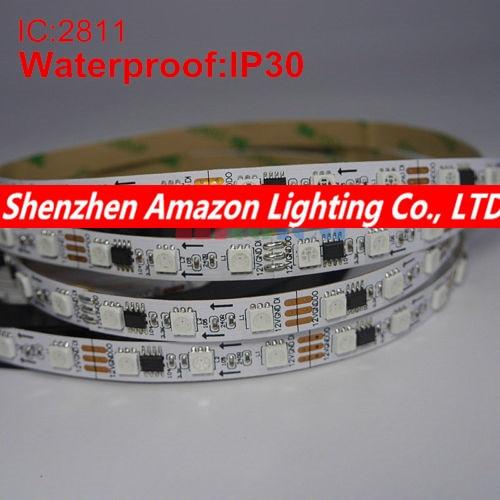 Tira de iluminación LED 5 M DC12V WS2811 5050 fita led luz direccionable impermeable IP30 WS2811 sueño Color led del pixel de