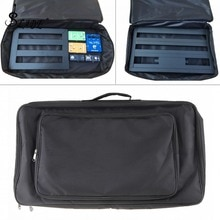 60*33*10cm negro Universal portátil efectos de guitarra Pedal tablero Gig Bag Soft Case estilo grande DIY guitarra Pedalboard