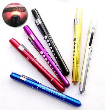 10pcs 6 Colors Caneta Lanterna Clinica Medical LED Light Pen Flashlight Clinic Pen Doctor Physical Exam Led Pupillary Flashlight