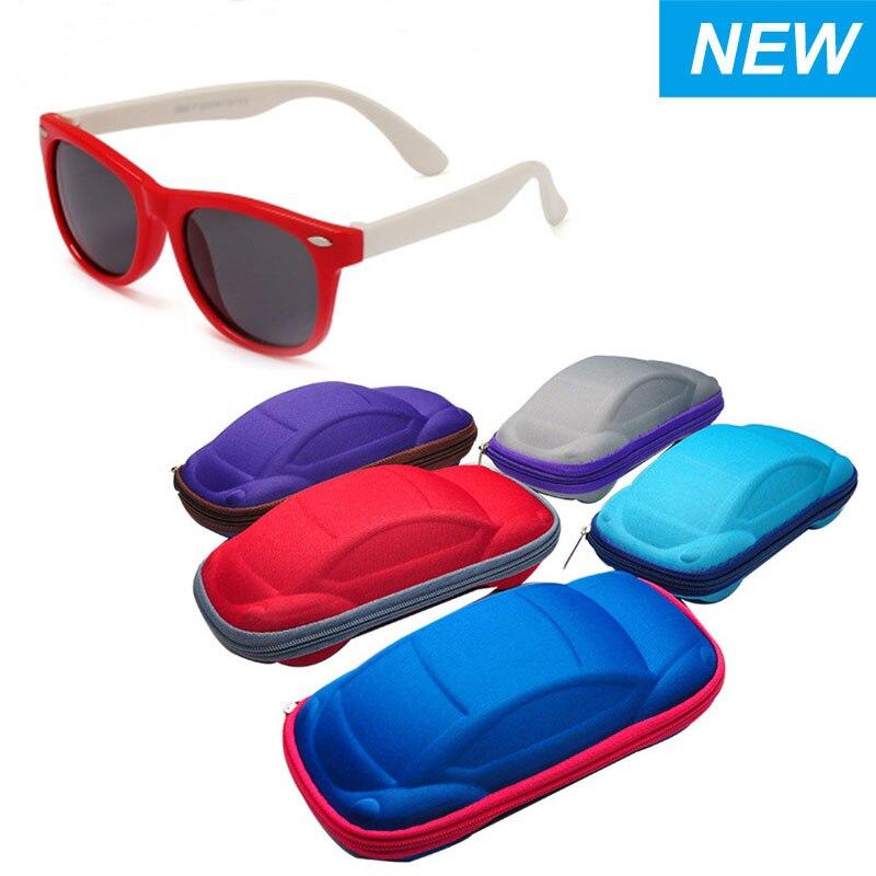 Случайный цвет Симпатичные очки коробка Канцтовары пеналы в форме автомобиля очки коробка для детей