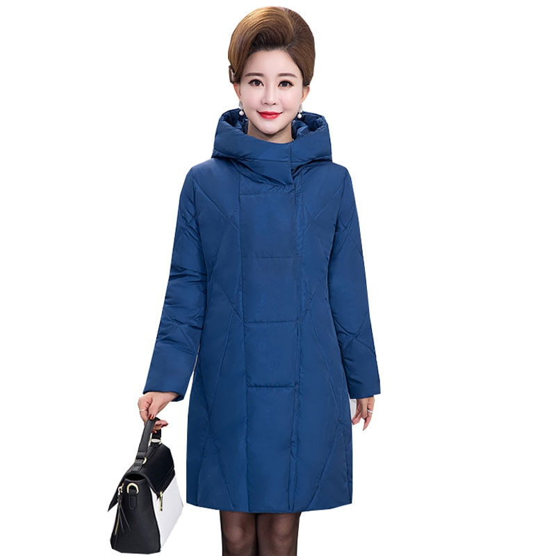 5xl Ukraine Middle-aged Plus size Winter Down Cotton Jacket Women Fashion Coat 2017 New Padded Woman Parkas Manteau Femme Hiver