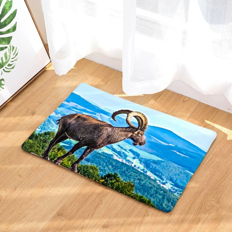 CAMMITEVER Goat фланелевые коврики Нескользящие и для дома гостиной моющийся кофейный