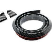 Rubber Carbon Fiber Rear Trunk Lip Spoiler Wing or Roof Spoiler Body Kit Trim Sticker 1.5Meters for Audi A3 A4 A5 A6 A7 A8 Sedan