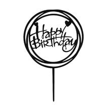 20 pcs/lot acrylique joyeux anniversaire gâteau Topper acrylique matériel anniversaire gâteau décoration