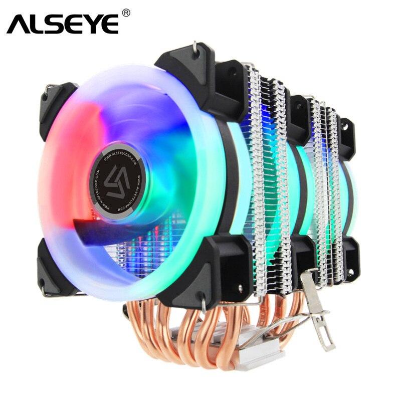 ALSEYE ST-90 מעבד קריר 6 Heatpipe עם RGB 4pin מעבד מאוורר באיכות גבוהה מעבד קירור חדש הגעה