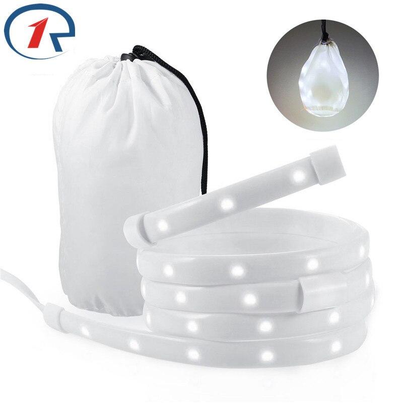 ZjRight USB LED Strip Lights outdoor sports Portabl Rope Lantern Waterproof Tent Lamp Camping Hiking Emergency Survival lighting