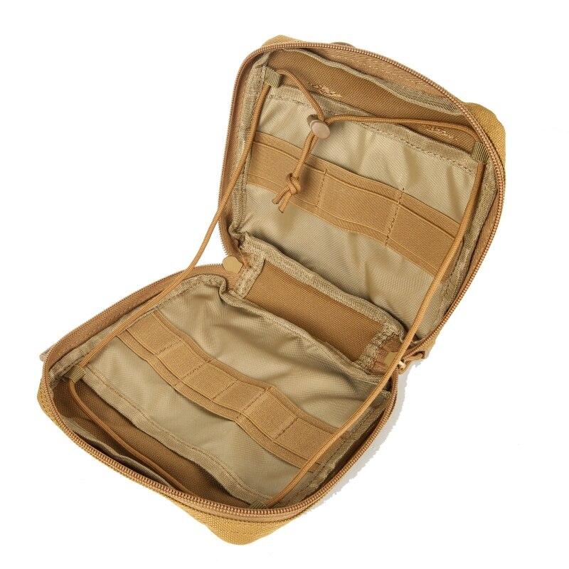 Militar MOLLE Admin bolsa táctico Multi médico Kit bolsa cinturón de herramientas de utilidad EDC bolsa para Camping senderismo caza