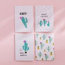 1 pièces Portable cactus cahier mignon flamant rose fruits carnet de notes Journal planificateur de jour Kawaii Journal papeterie cadeau fournitures scolaires