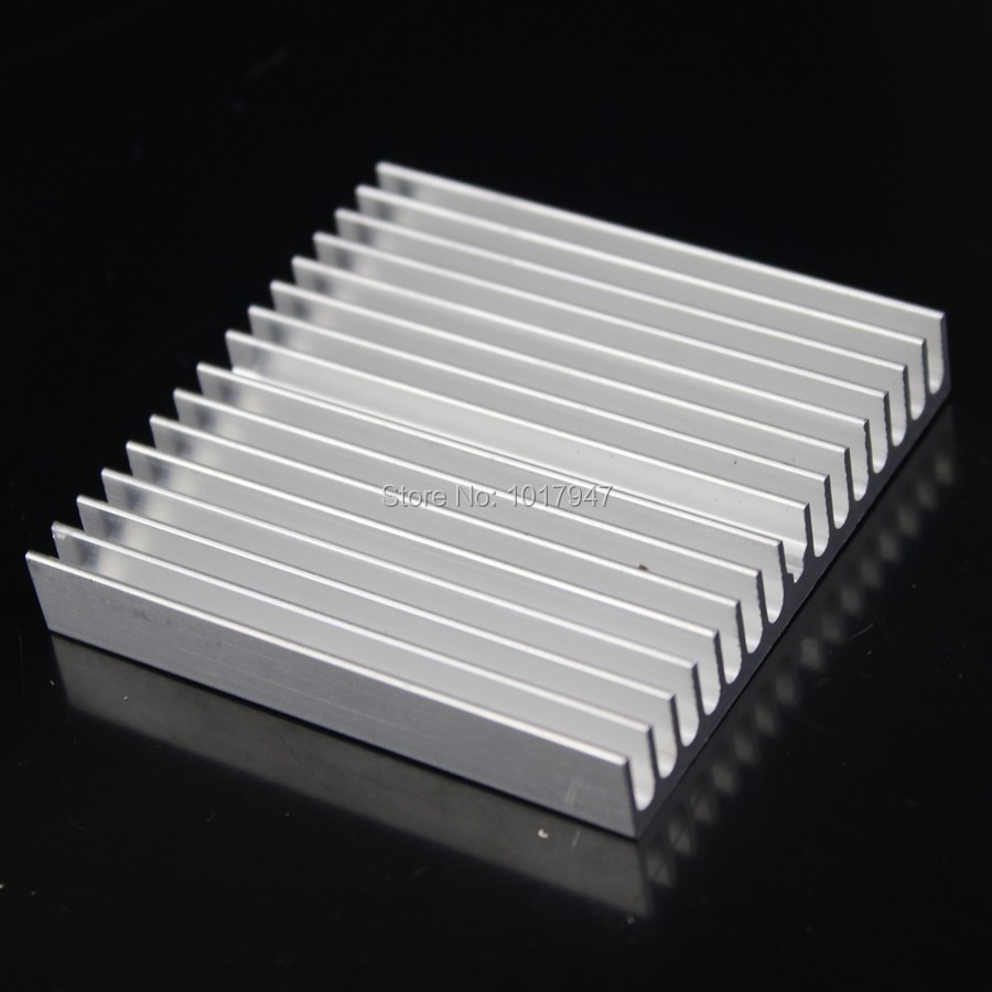 200pcs lot Gdstime 60x60x10mm adhesive Aluminum Heat Sink For Memory Chip IC