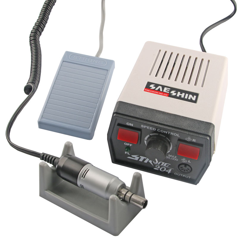 Стоматологическая лаборатория Strong 204, Электрический микромотор для полировки, 35000 об/мин