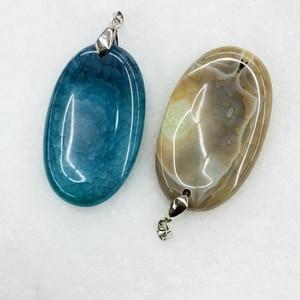 Wholesale Mystic Sunken Chalcedony Agat e Finger Massate Pendant,Mixed 10pcs/lot For Geode Necklace,Approx 40mm