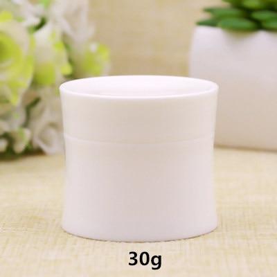 50 unids/lote 15g 30g Blanco/Negro/azul PP plástico tarro de crema Facial Pequeño contenedor de maquillaje en polvo caja de botella de embalaje recargable