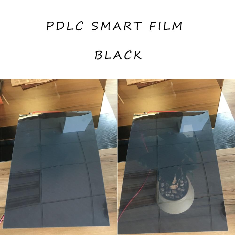 Schaltbare Privatsphäre Film Smart Glas Fenster Blind Schatten PDLC Schwarz A4 Größe 29,7 cm x 21cm