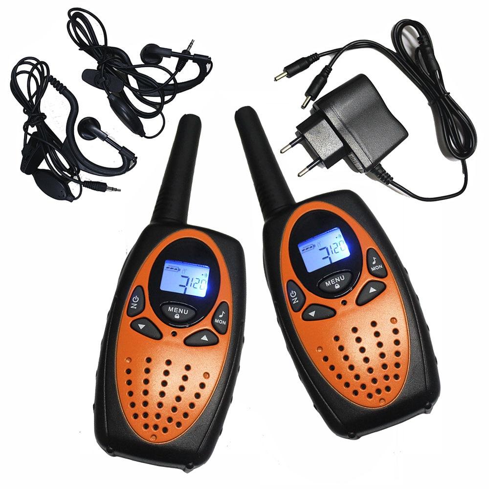 Переносные радиоприемники TS628 PMR446, переносные рации с большим радиусом действия 1 Вт, двухсторонние приемопередатчики оранжевого цвета с за...