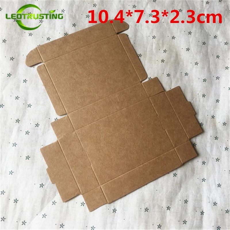 Leotrusting-صندوق من الورق المقوى باللون البني ، 10.4 × 7.3 × 2.3 سنتيمتر ، 50 قطعة ، تغليف هدايا ، صابون يدوي الصنع