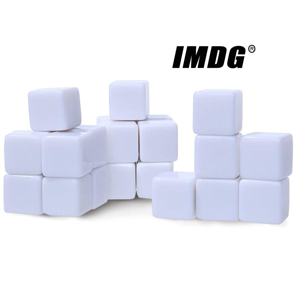 10 шт./упак. новые акриловые пустые кубики 16 мм, белые кубики, Обучающие реквизиты, игровые аксессуары, математические инструменты, квадратны...
