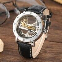 2020 Unique Mechanical Men's Watches Automatic Winding Fashion Watches Men Leisure Leather Strap Bussiness Dress reloj hombre