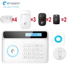 e-tiger anti-theft + fire prevention security system include smoke/motion/door open sensor indoor siren home alarm