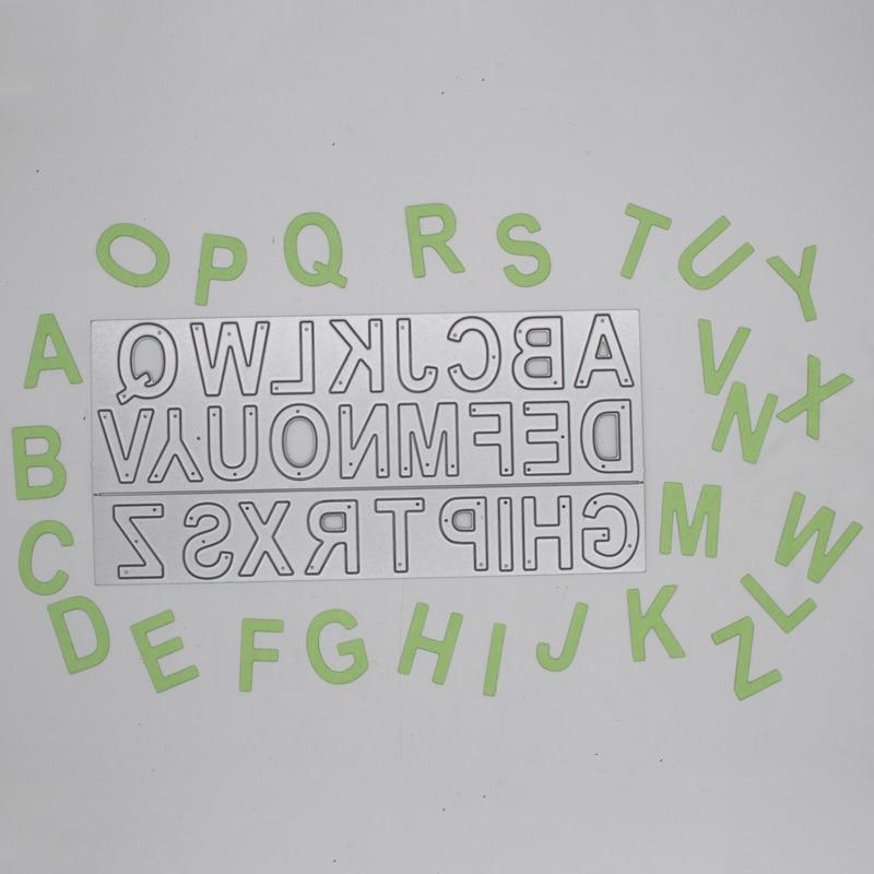 Alfabeto para manualidades de corte de Metal muere molde manualidades de papel de álbum de recortes cuchillo molde de cuchilla perforadora de plantillas 15*7,1 CM