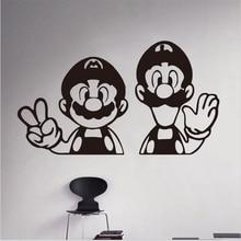 Autocollants muraux amovibles en Carton   Autocollants Super Mario en vinyle, décoration de la maison, chambre denfants, chambre denfants, livraison gratuite, 2017 nouveau