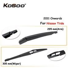 KOSOO Auto Rear Car Wiper Blade For Nissan Tiida,305mm 2011 Onwards Rear Window Windshield Wiper Blades Arm,Car Accessories