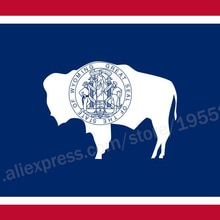 Wyoming Flag 3 x 5 FT 90 x 150 cm USA States Flags Banners