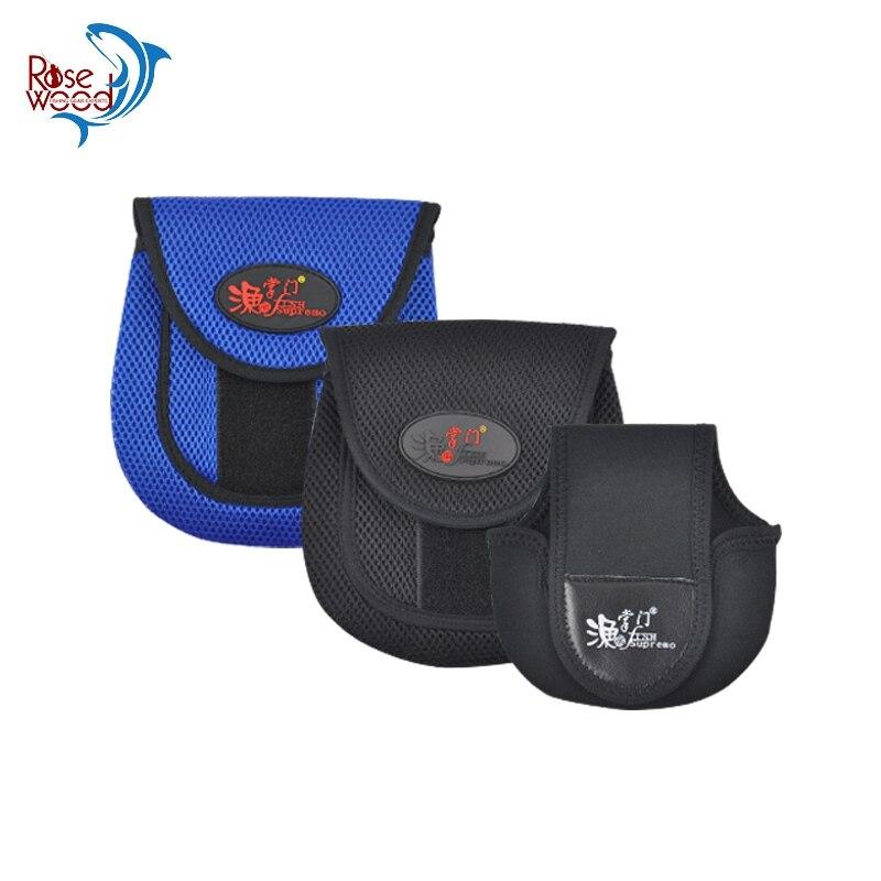 Bolsa de carrete negro, azul nuevo diseño Spinning/BaitCaster carrete de pesca cubierta protectora de almacenamiento bolsa funda