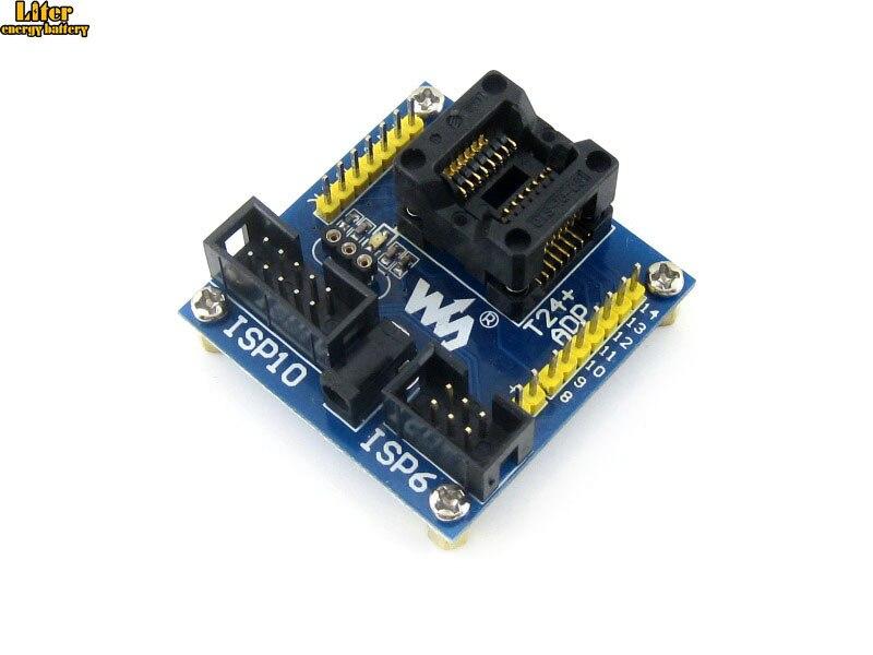 ATtiny24A-SSU ATtiny24 ATtiny44 ATtiny84 AVR SOIC14 150 mil adaptador de programación Socket de prueba