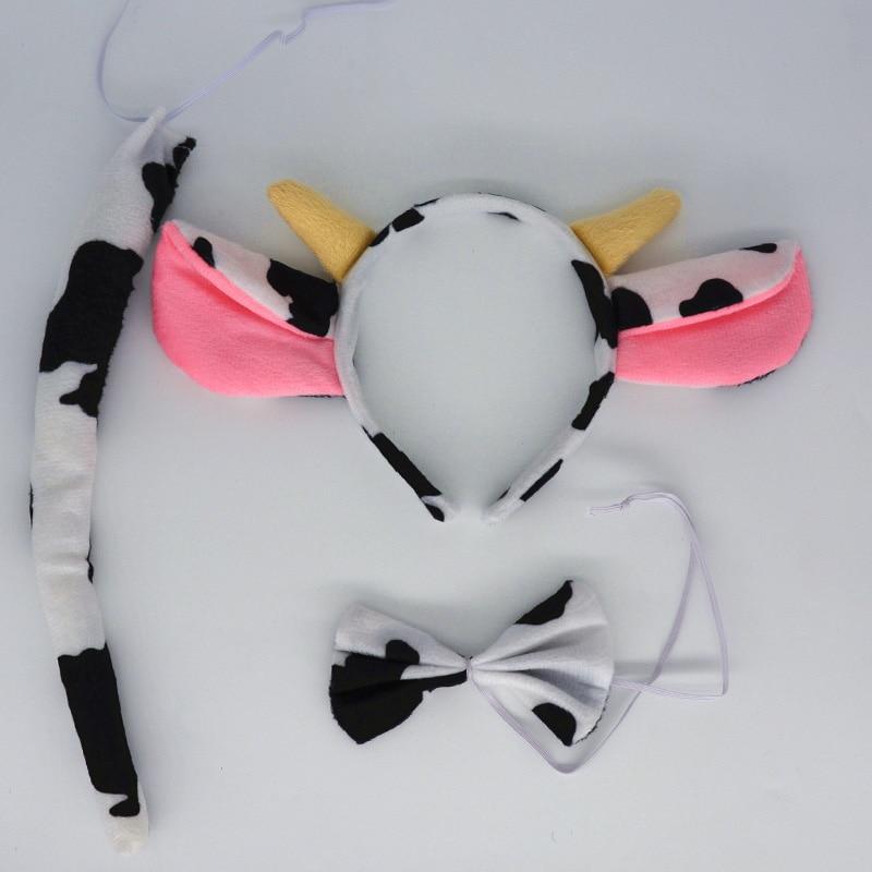 Diadema de leche de Animal para la oreja, para el pelo diadema de vaca lechera, diadema para fiesta, decoración del hogar, decoración para el hogar, boda, cumpleaños
