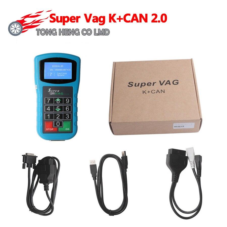 Супер VAG K + CAN 2,0 plus Диагностика + коррекция пробега + считыватель ПИН-кода Super VAG K CAN plus 2,0 ключ программист подушка безопасности сброс