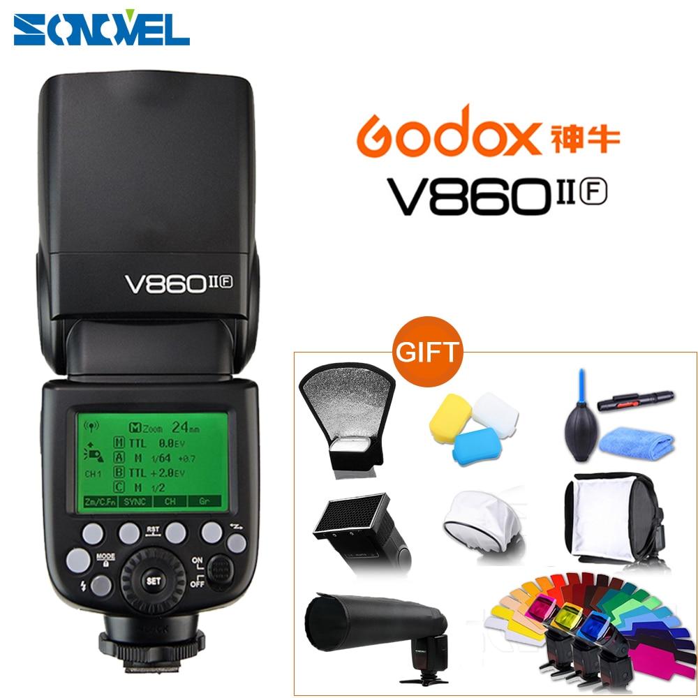 Godox Ving V860II V860II-O S C N F TTL HSS 1/8000 batería Li-Ion TTL Speedlite Flash para Olympus Sony Panasonic Canon Nikon