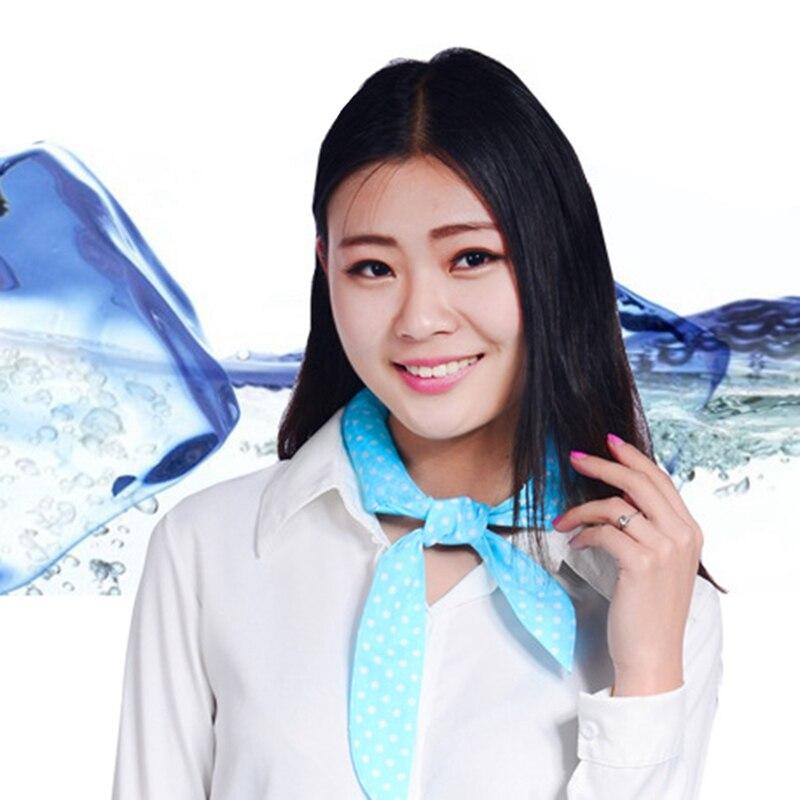 2019 al aire libre no-tóxicos cuello brazo refrigerador bufanda cuerpo de hielo de refrigeración de lazo diadema toalla pañuelo