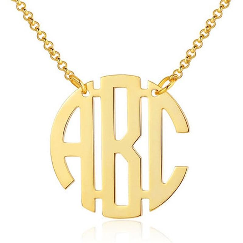 Ожерелье с монограммой с именем на заказ, ожерелье-чокер с именем на заказ, s Pendents бижутерия из нержавеющей стали, бижутерия с монограммой на ...
