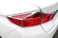 For Honda City 2014 2015 2016 Chrome Front Head Light & Rear Tail Light Frame Cover Trim 6pcs