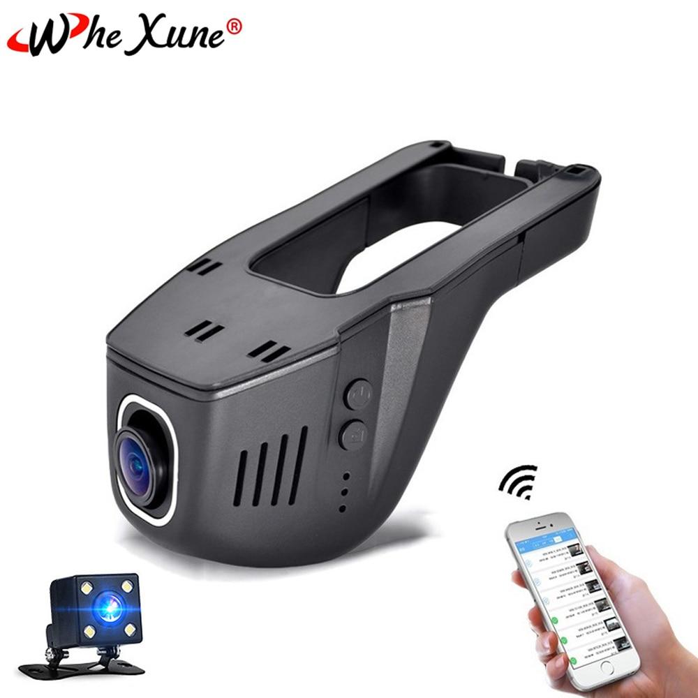 WHEXUNE-كاميرا Dvr للسيارة ، مسجل فيديو صغير بعدسة مزدوجة ، رؤية ليلية 1080 درجة ، Wifi ، FHD ، 96658 P ، Novatek 170 ، Sony IMX323