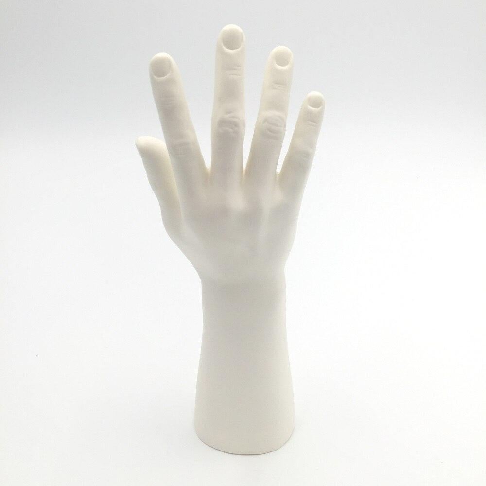Mano de maniquí hombre blanco único CAMMITEVER con Base modelo de plástico manos de maniquí para la venta