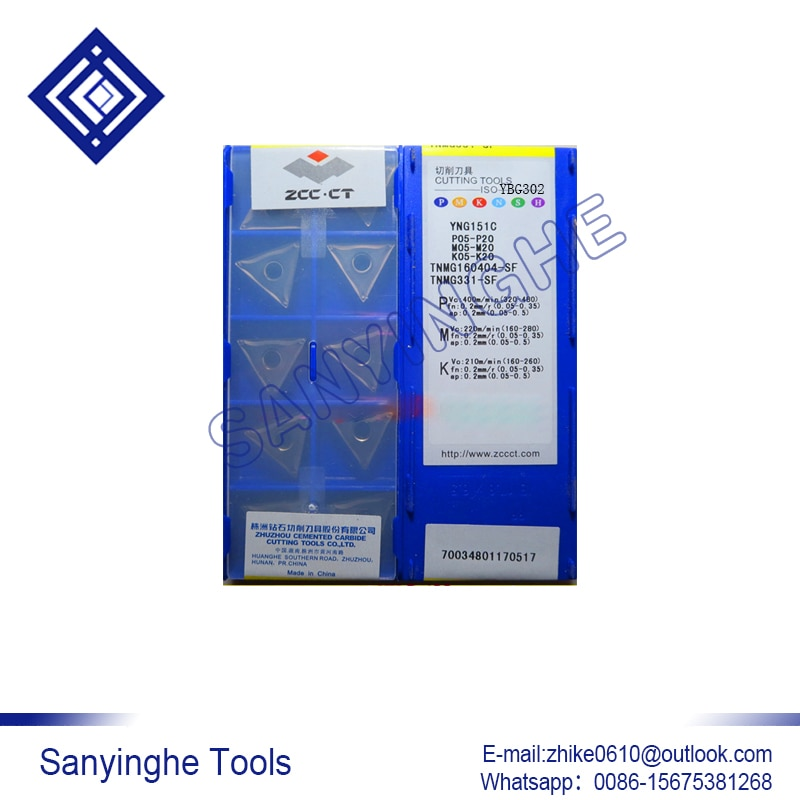 الشحن مجانا عالية الجودة 10 قطعة/السلع YNG151C TNMG160404-SF cnc كربيد تحول إدراج