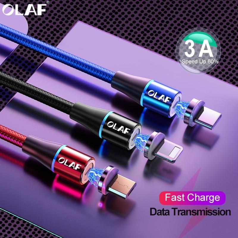 Магнитный зарядный кабель для iPhone X XR XS Max Micro USB Type C кабель для Samsung S9 S8 Android зарядное устройство USB C шнур