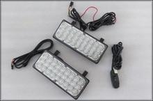Higher star DC12V,27W 2pcs Led car grill warning lights,strobe headlights, ambulance emergency lights waterproof