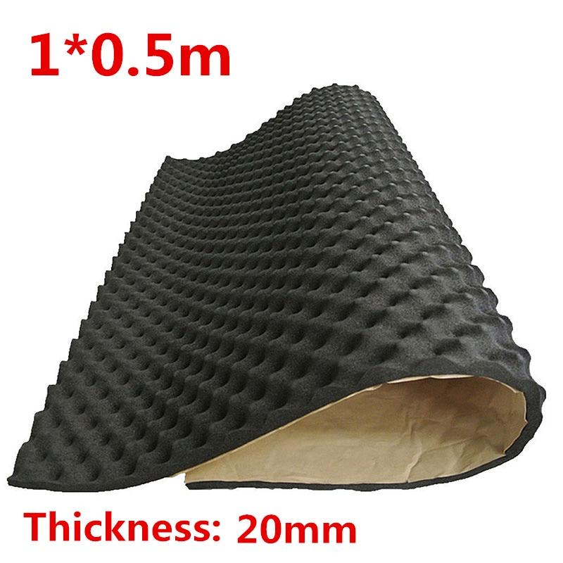 100x50cm Car Sound Proof Mat Floor Noise Insulation Foam Dampen Deadener 20mm Ebay