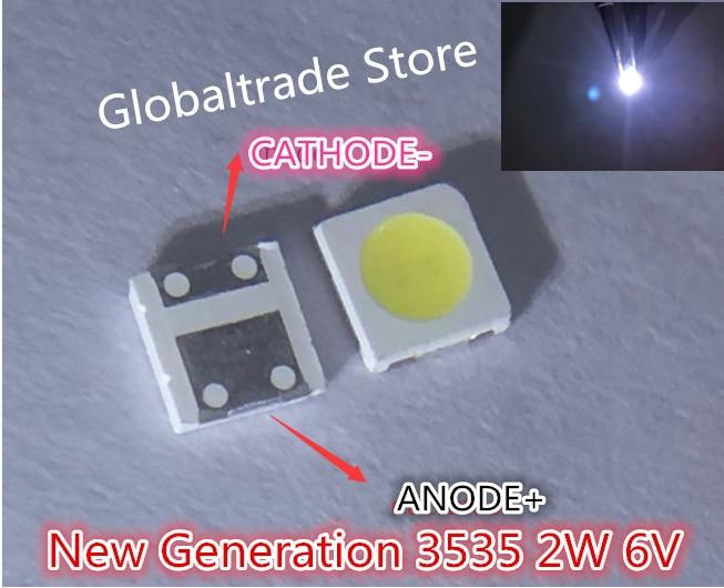60 stücke Für LG Innotek LED Neue und Original LED 2W 6V 3535 Kühlen weiß Lcd-hintergrundbeleuchtung für TV Anwendung